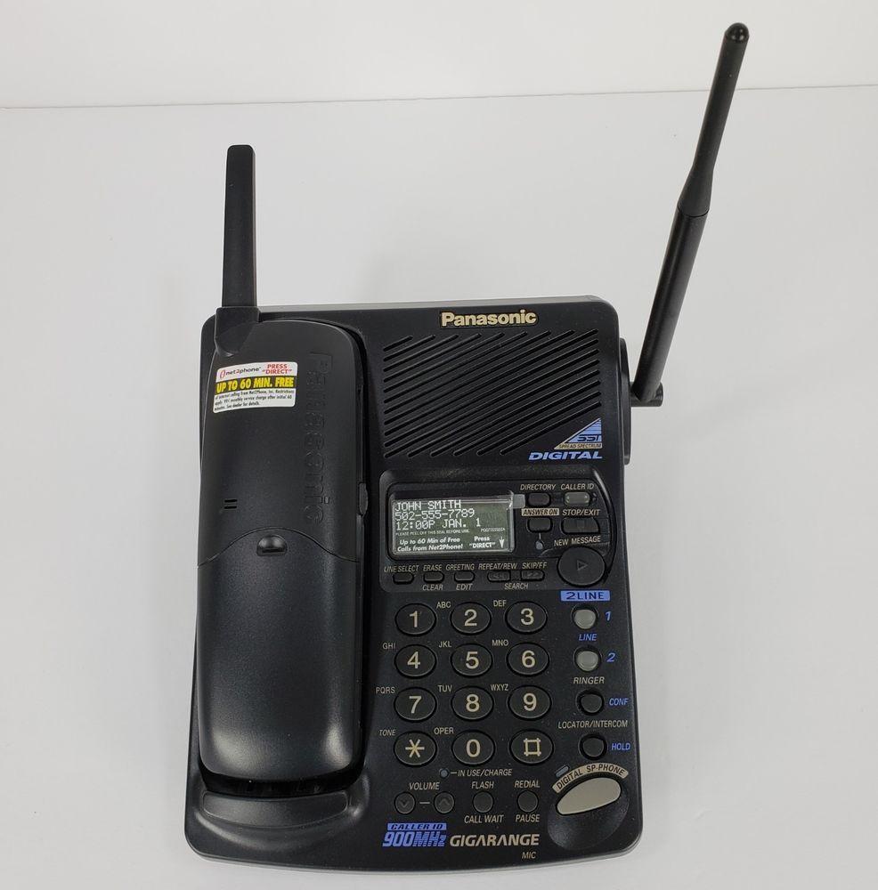Panasonic KX TC1891B Digital Answering System Black 900MHz Phone Cordless 2 Line