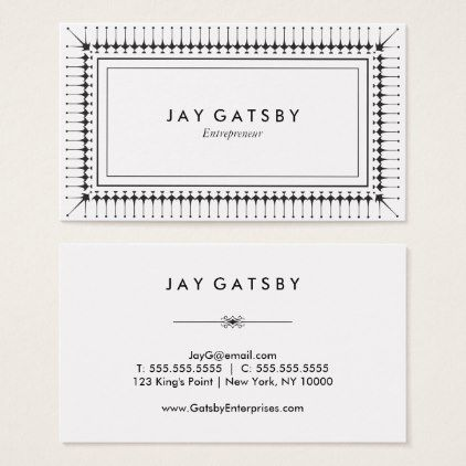Classic Art DecoArt Nouveau Business Card  Pattern Sample Design