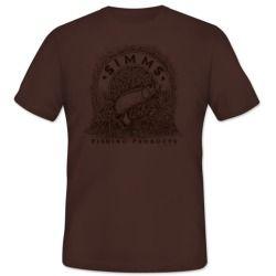 Simms PG-10123 Bishop Tarpon Banner Men's T-Shirt Earth - Size Medium