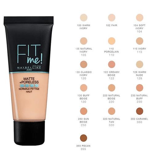 كريم اساس ميبلين للبشره الدهنيه موسوعة طيوف Maybelline Foundation For Oily Skin Maybelline Fit Me Foundation