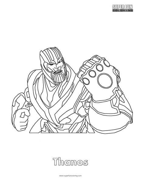 Thanos Fortnite Coloring Page Dibujos Dibujos Para