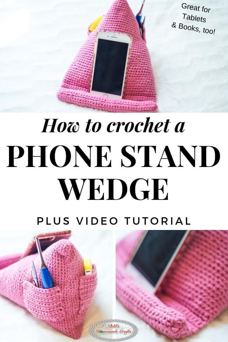 Easily Crochet a Phone Stand - for Books & Tablet too