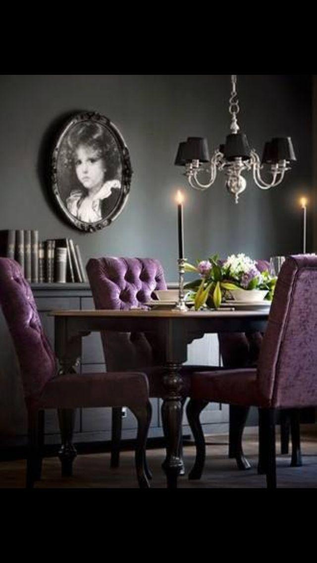 Purple Purple Dining Room Modern Dining Room Dining Room