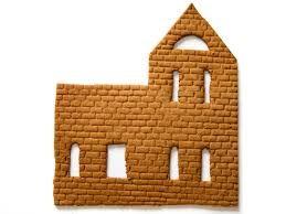 Hasil gambar untuk simple gingerbread house template #gingerbreadhousetemplate