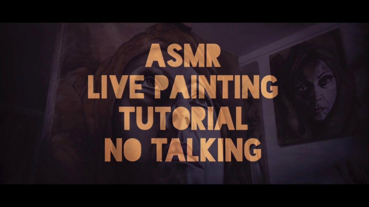 ASMR - Live Painting - No talking - Tapping, Crinkles, Stick rain