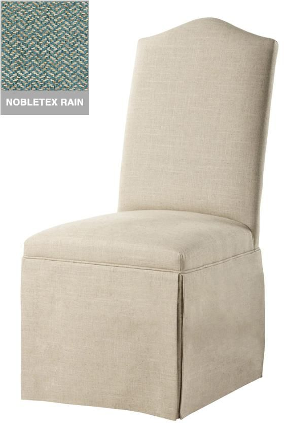 Custom Camel Back Parsons Chair With Skirt
