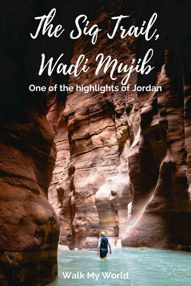 The Siq Trail, Wadi Mujib: one of the highlights of Jordan #traveltojordan