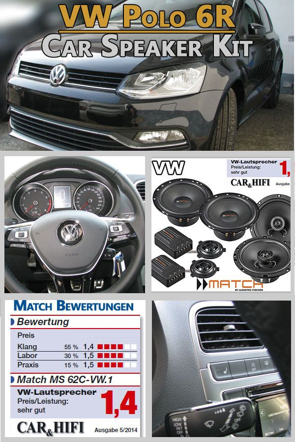 vw polo v 6r car speakers german winner upgrade kit front. Black Bedroom Furniture Sets. Home Design Ideas