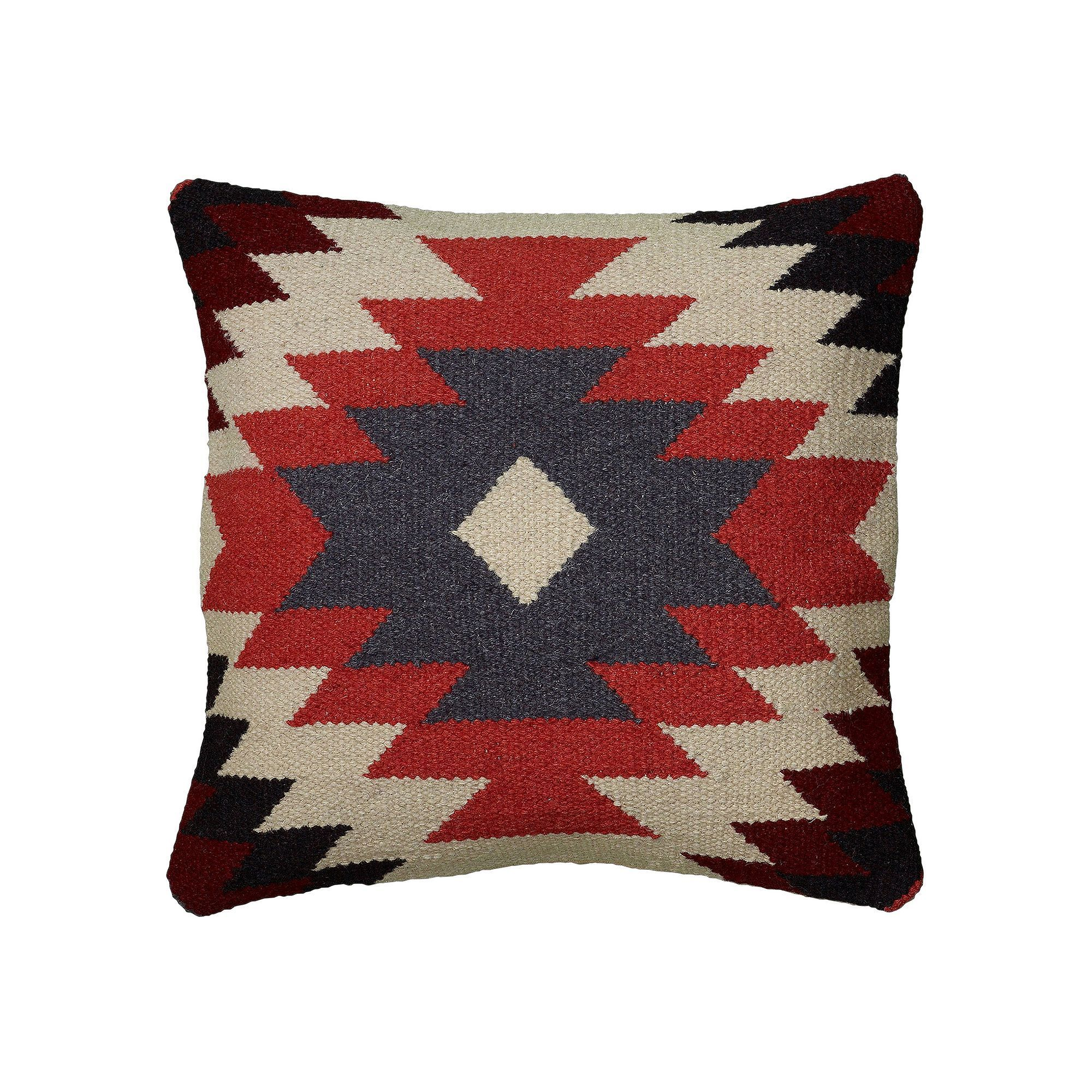 Rizzy home colorful southwestern throw pillow orange