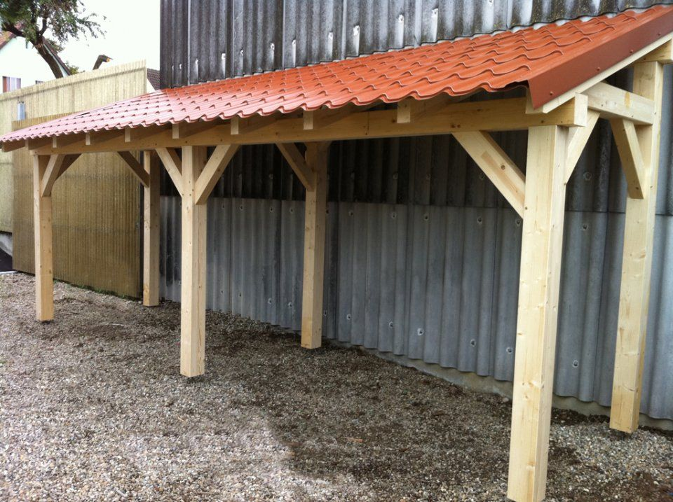 Abri à bois 330ml 4 poteaux Garage Pinterest Carport ideas