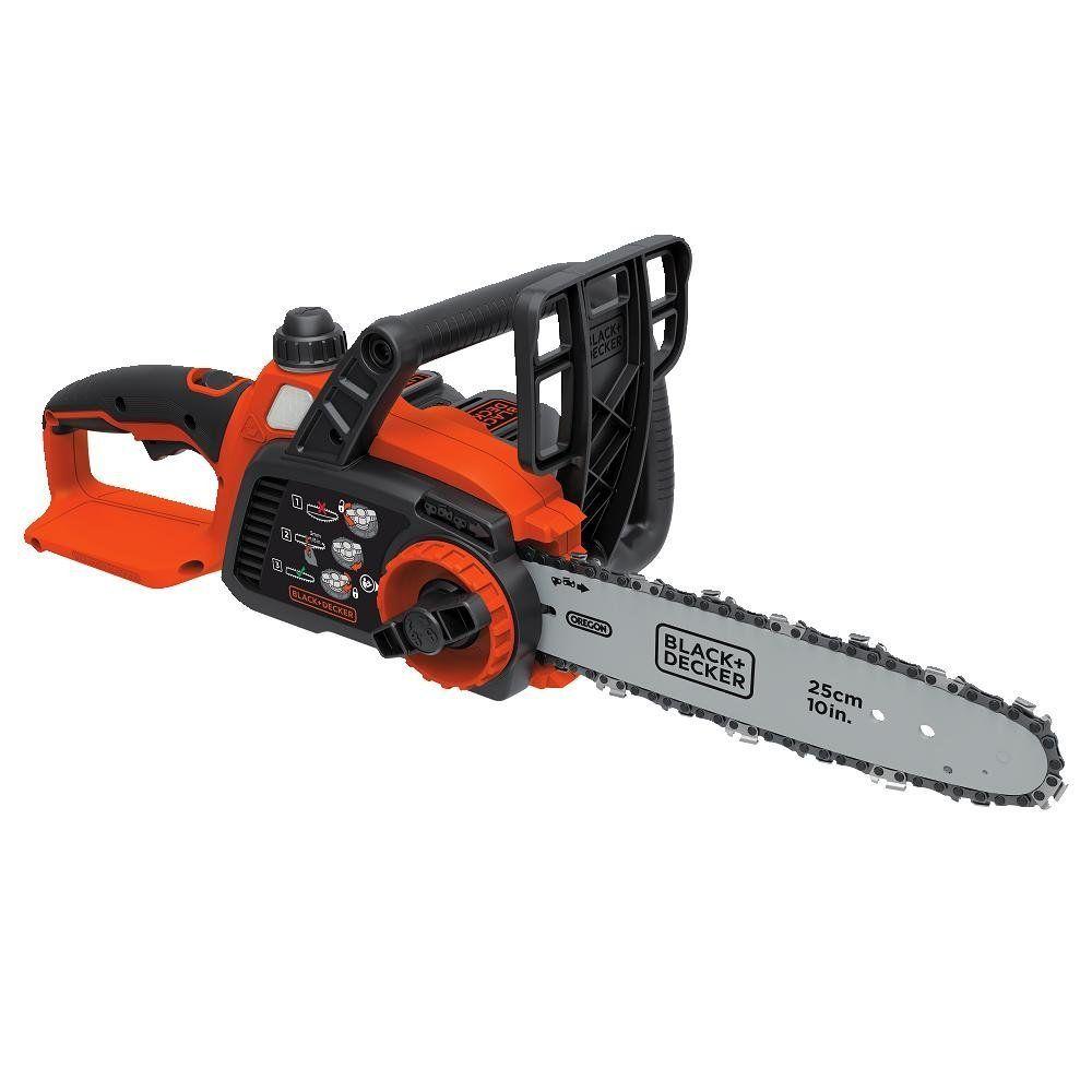 Black Decker Lcs1020 20v Max Lithium Ion Chainsaw Best Electric Chainsaw Cordless Chainsaw Black Decker