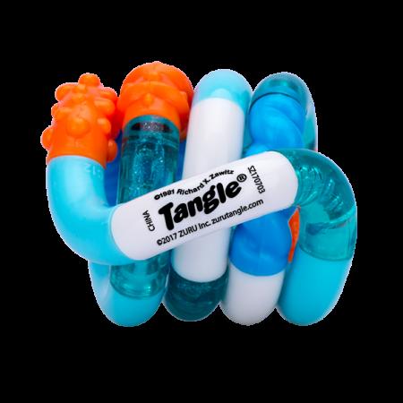 Crazy Zuru Tangle Orange Blue White Clear Fidget Toy Walmart Com Fidget Toys Tangled Zuru