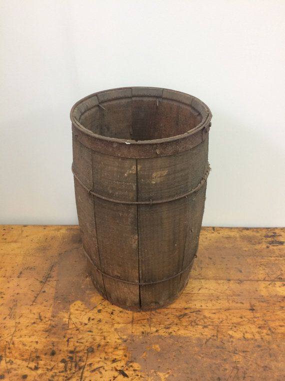 Vintage Wood Nail Keg / Barrel from the 1920\'s by EmpireAntiqueCo ...
