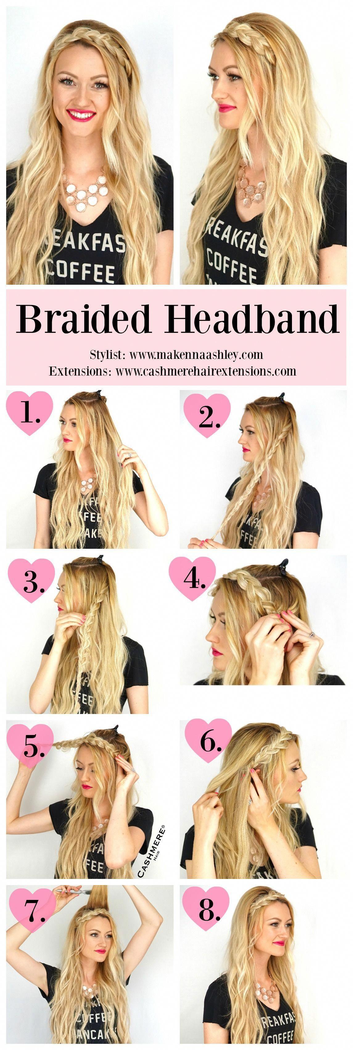 Braided headband tutorial cashmere hair clip in