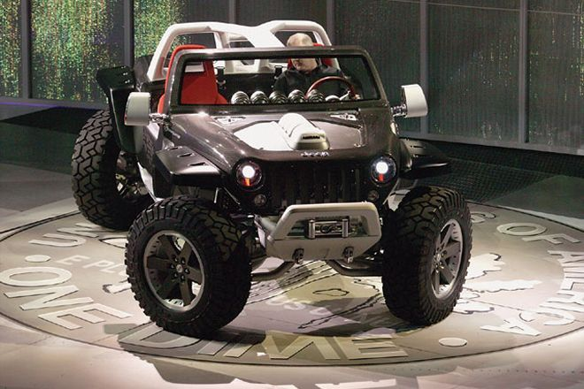 Jeep Wrangler Concept Vehicle Motorcycle Transportation