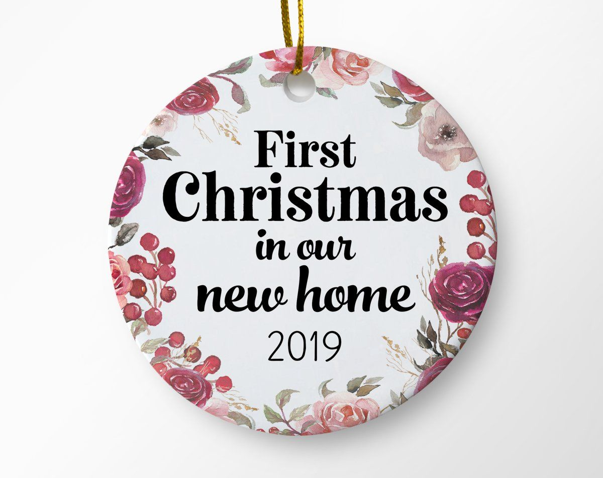 First Christmas In Our New Home 2019.First Christmas In Our New Home Ornament In 2019 Products