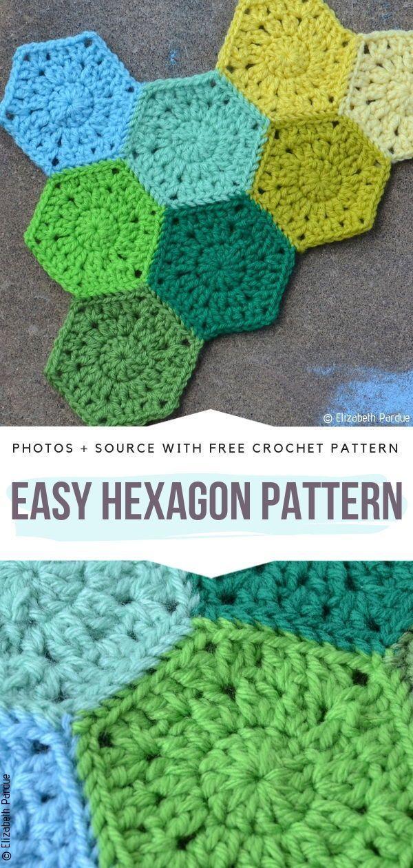 Superbes modèles gratuits d'hexagones au crochet – Modèles de crochet gratuits – Mon blog   – Tapeten Muster