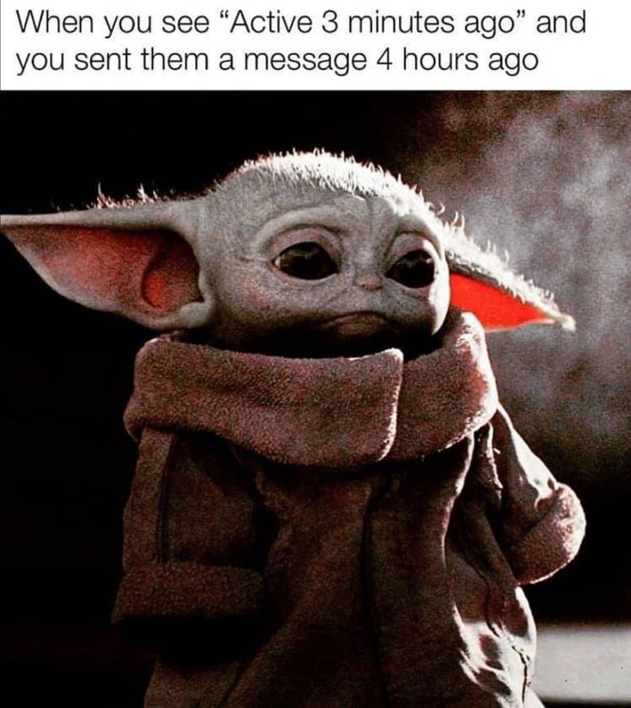 Star Wars Baby Yoda Memes On Instagram Ouch Follow 16ghz Babyyoda Yoda Yodamemes Themandalo Happy Memes Cute Memes Yoda Meme