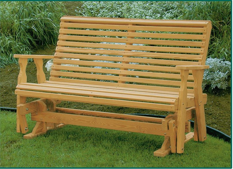 Amish Pine Wood Roll Back Glider Outdoor Glider Diy Outdoor Furniture Outdoor Wood Furniture
