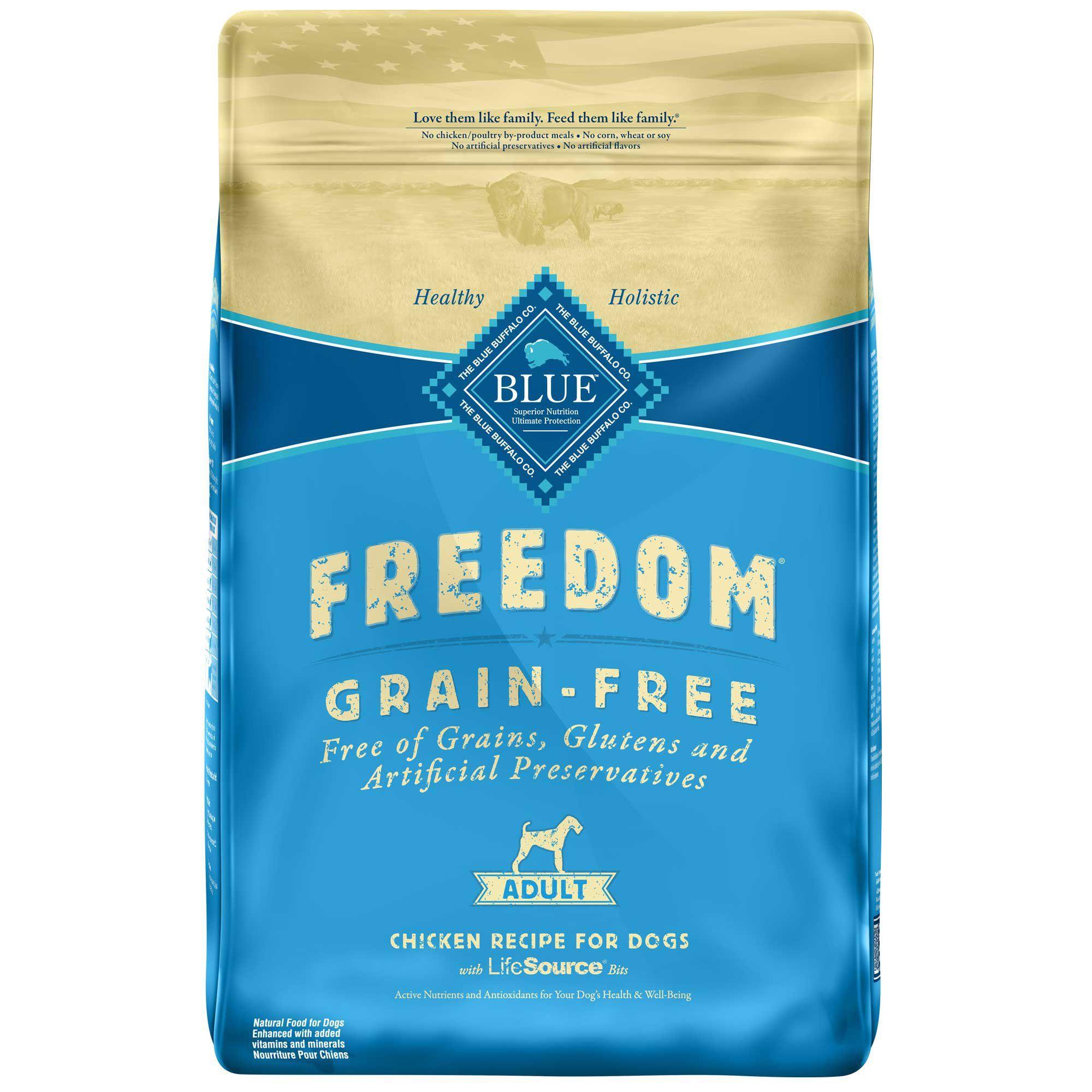 Blue Buffalo Blue Freedom Grain Free Adult Chicken Recipe Dry Dog