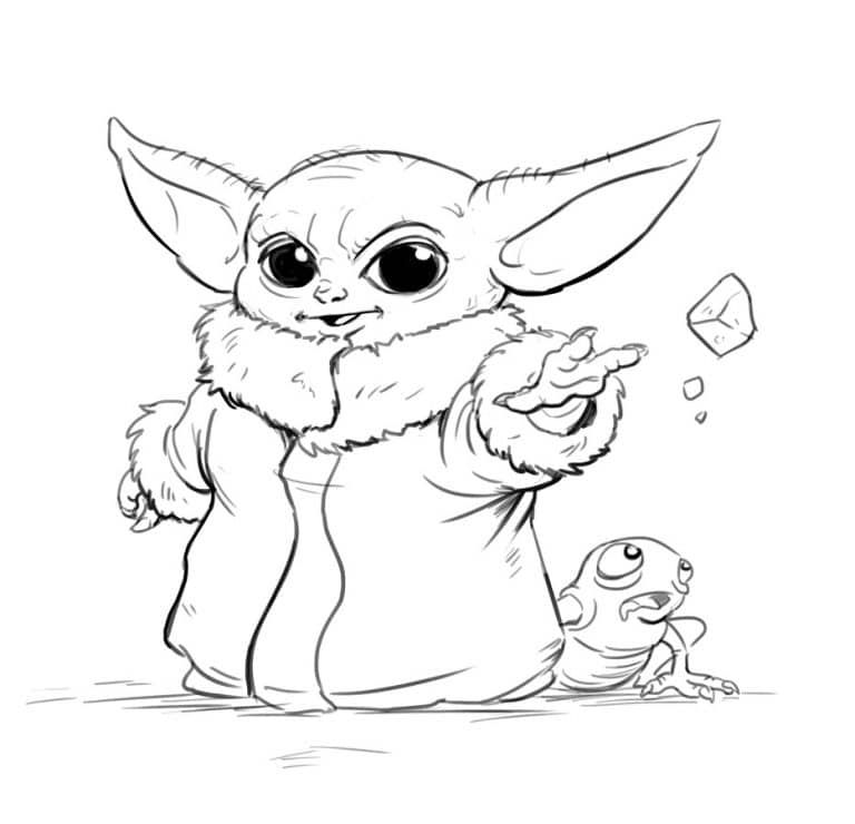 Learn To Draw Baby Yoda From Star Wars In 9 Steps Improveyourdrawings Com In 2021 Star Wars Drawings Star Wars Characters Drawings Star Wars Art Drawings