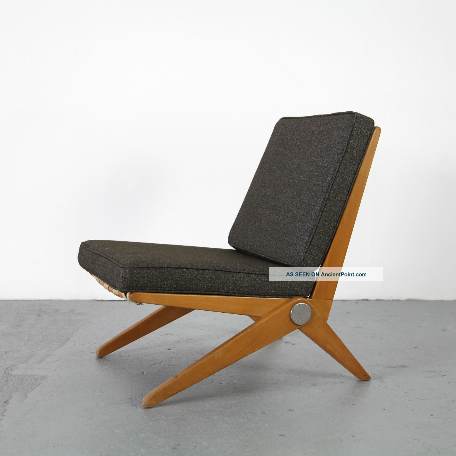 Mid Century Sessel Scissor Chair By Pierre Jeanneret Knoll International 50s Mid