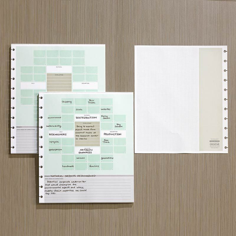 circa smartplanner ideation station  letter  set of 2