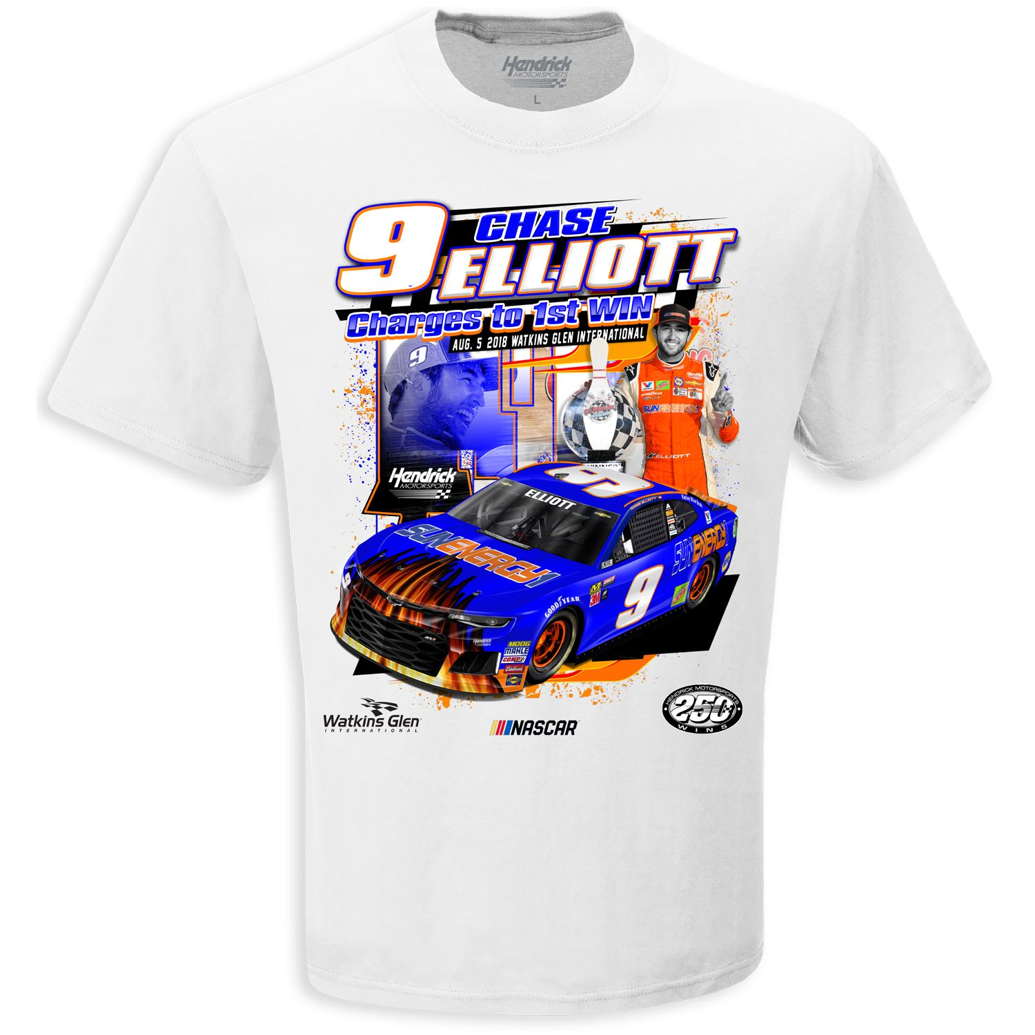 Chase Elliott T Shirt >> Chase Elliott 9 First Win On A White Extra Large Xl Tee