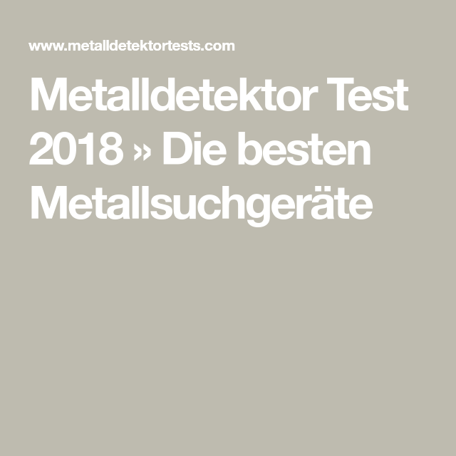 metalldetektor test 2018 die besten metallsuchger te. Black Bedroom Furniture Sets. Home Design Ideas