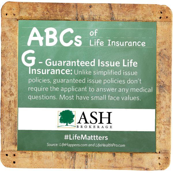 U0027Gu0027   Guaranteed Issue Life Insurance: Unlike Simplified Issue Policies, Guaranteed  Issue