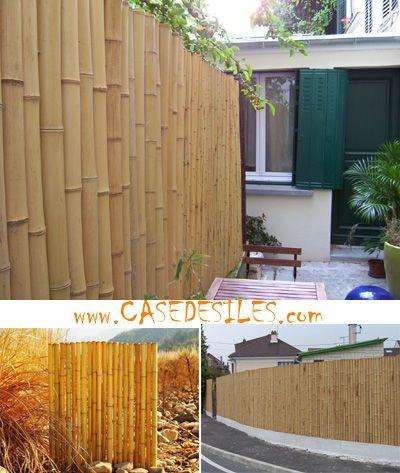 Cloture Bambou Naturelle Et Reguliere L1 H1 2m Pas Cher