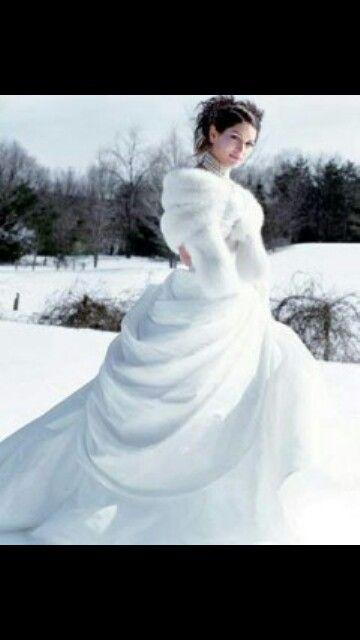 Mariage hiver...magnifique mariée