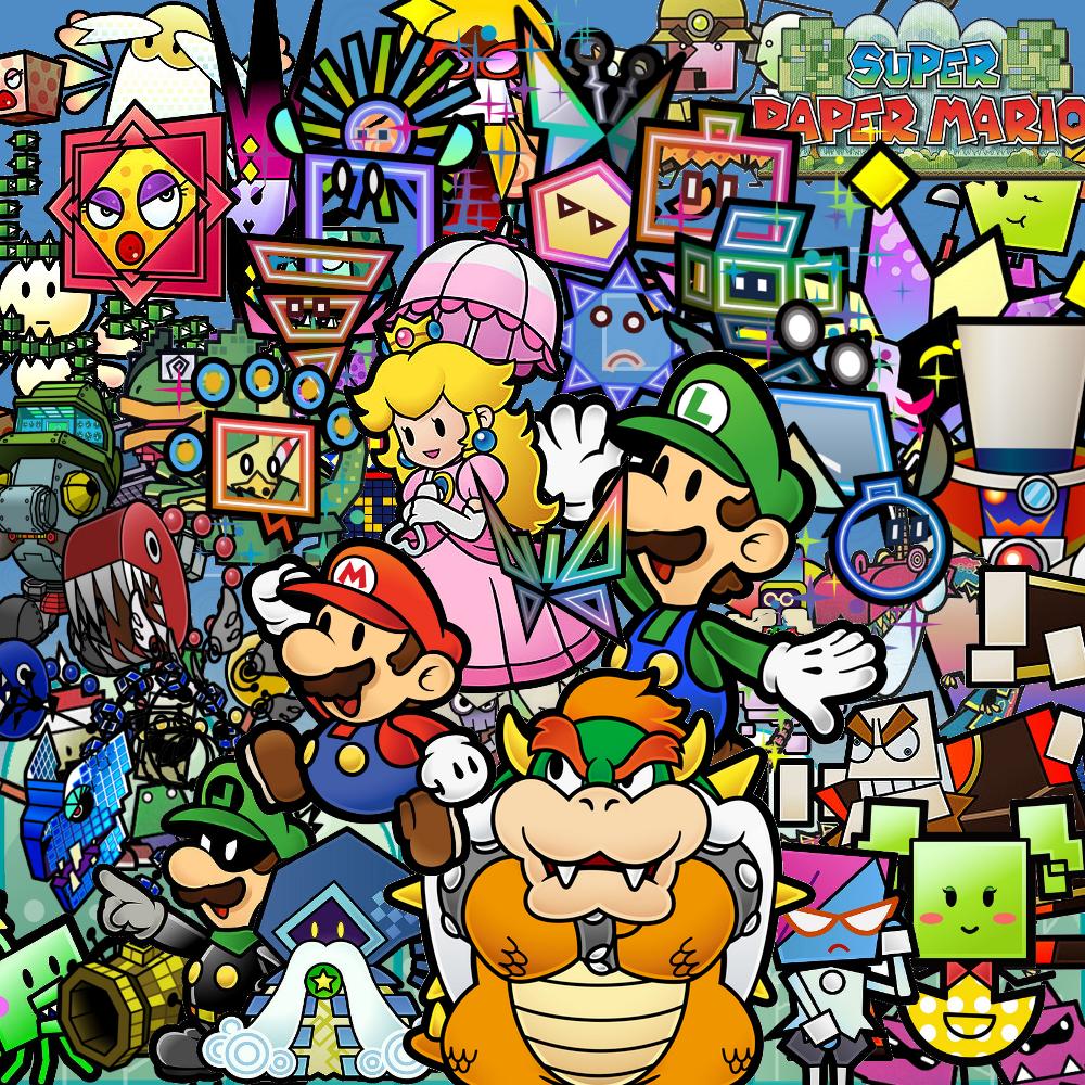 Super Maro Caritors Super Paper Mario Characters Giant Bomb