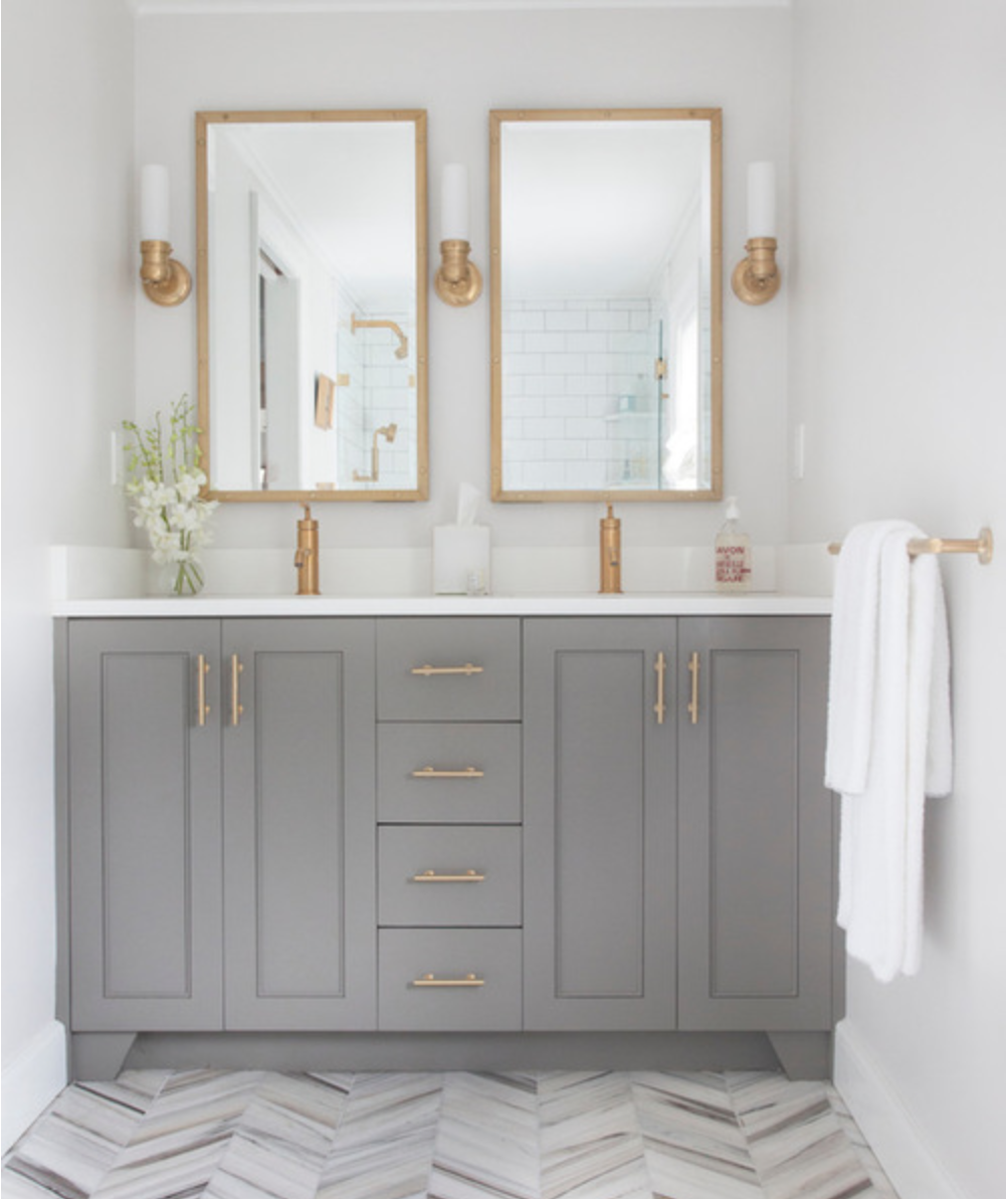 Bano Gris Y Dorado Bathroom Inspiration Bathrooms Remodel