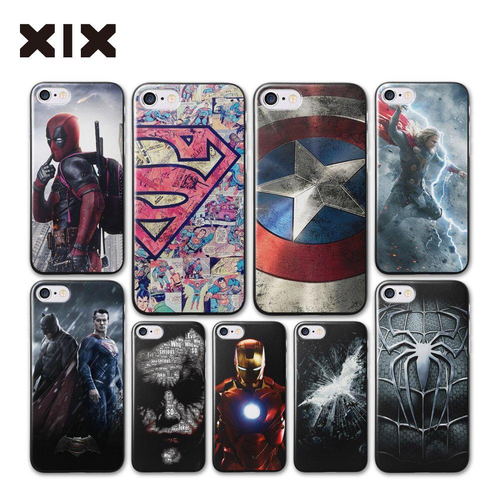 Dla iphone 5s case coque 4 4S 5 5S 5c 6 6 s super heroes ciężka ...