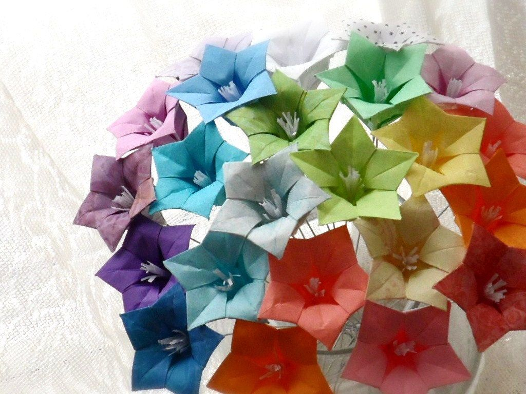 Oh So Ombre Origami Paper Flower Bouquet By Dearbetsy On Etsy Diy