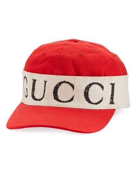 cdd45e6a96fe3a GUCCI GABARDINE HAT WITH GUCCI HEADBAND, RED/WHITE. #gucci # | Gucci ...
