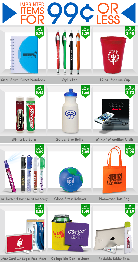 606a959f9e Promote your brand for less than  1 with giveaways from Motivators! Cheap  Promotional Items