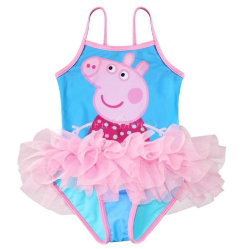 New Girl Peppa Pig Tutu Swimsuit Swimwear Toddders Swimming Costume Bathing Suit  sc 1 st  Pinterest : peppa pig swimming costumes  - Germanpascual.Com