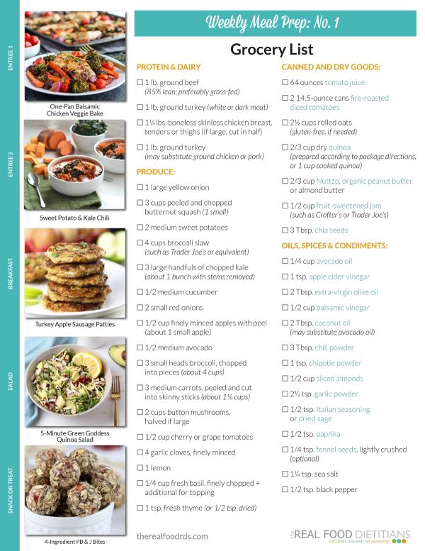 Weekly meal prep menu no 1 weekly meal prep weekly meals and meals rfdweekly meal prepno 1grocery list 1 forumfinder Image collections