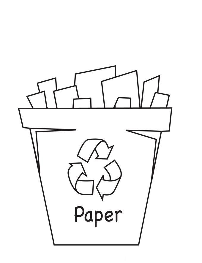 Recycle Right Colouring Pages With Love