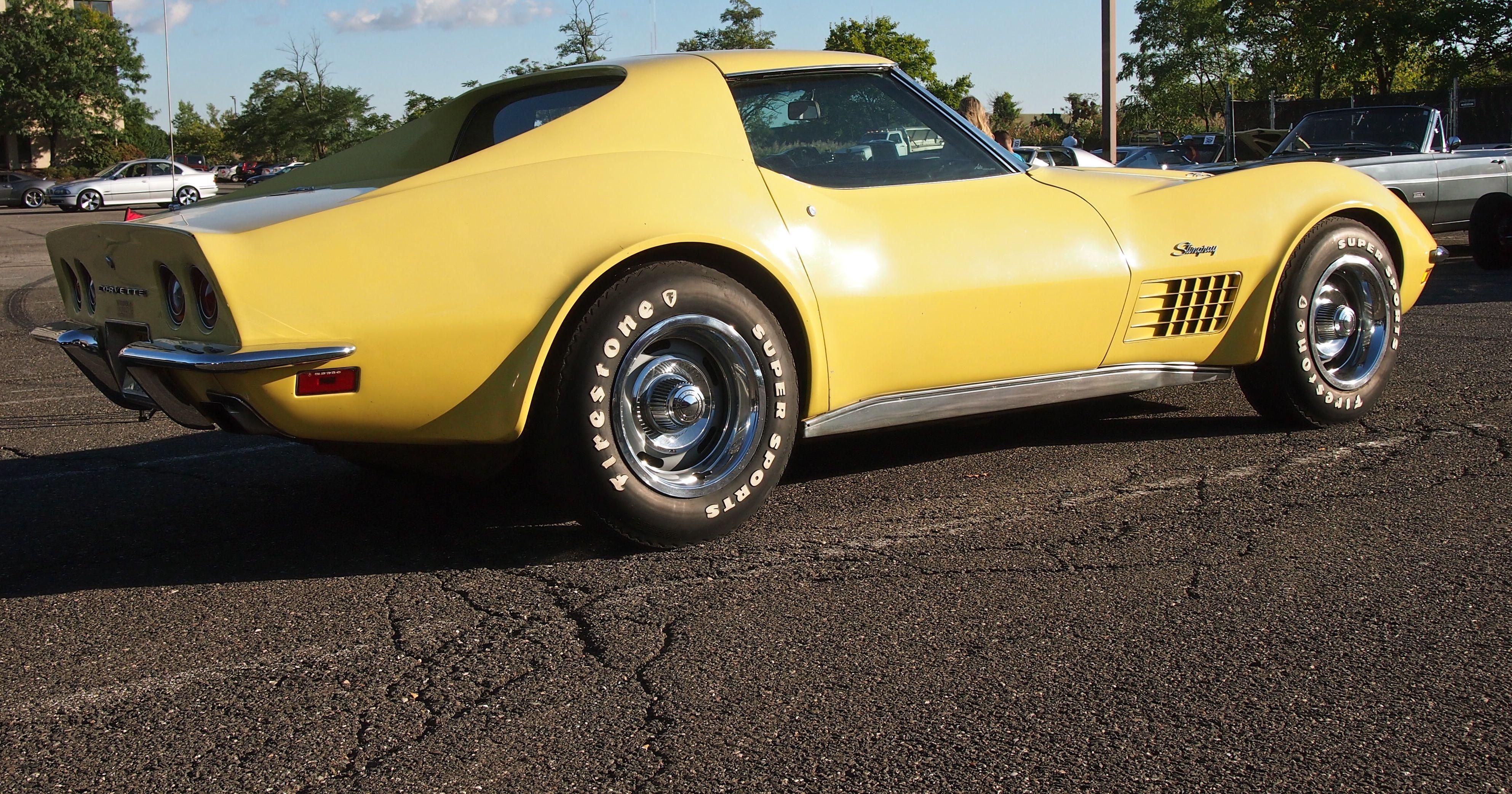 Yellow Vette. Pic by Joe Danon