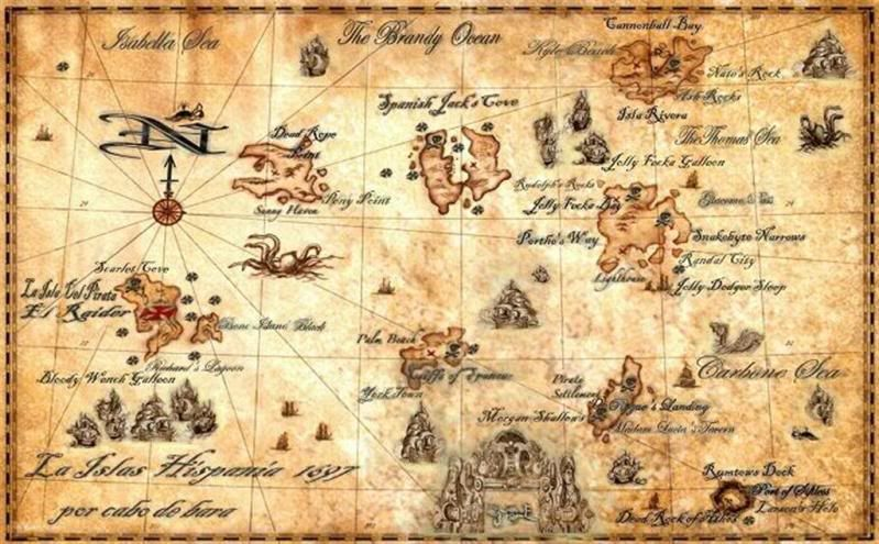 old pirate treasure map few centuries to find blackbeard s gold