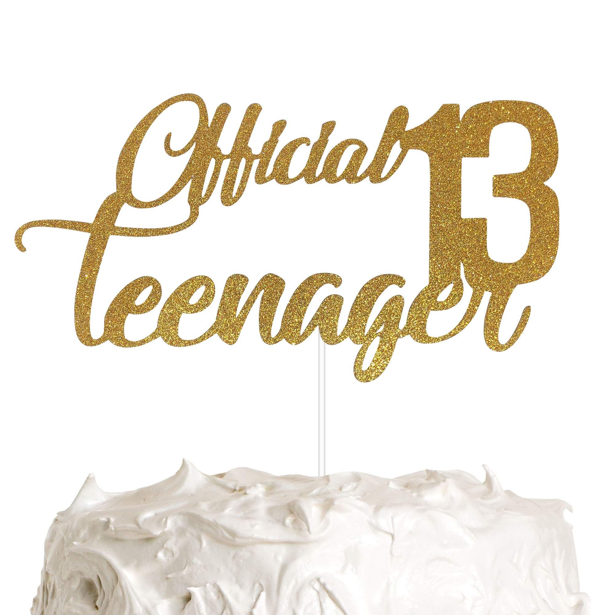 Official Teenager 13 Cake Topper, 13th Birthday Cake ...