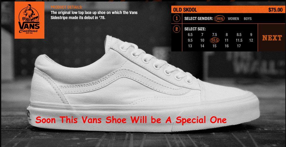 customize vans chaussures online