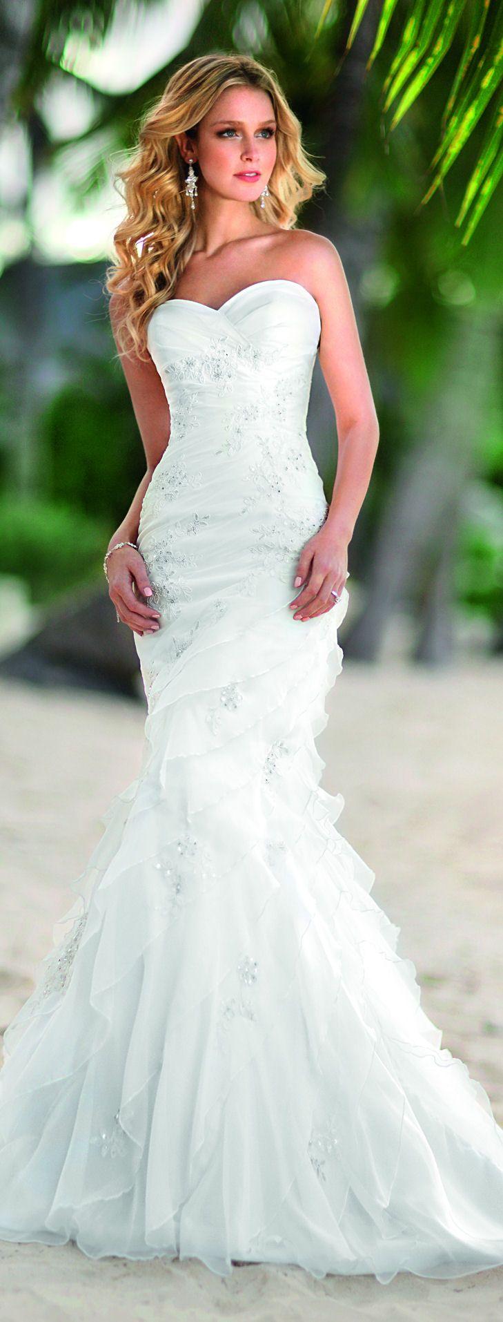 Winter wonderland wedding dress  Sweetheart Ruffle Wedding Gown   Wedding  Pinterest  Ruffles