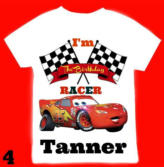 Cars Birthday Boy Shirt Personalized With By FantasyKidsParty