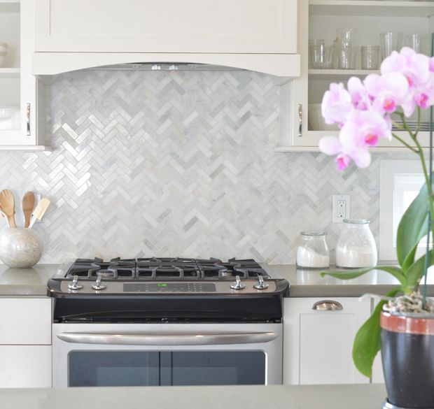 Best Kitchen Remodel White Cabinets Herringbone Marble 400 x 300