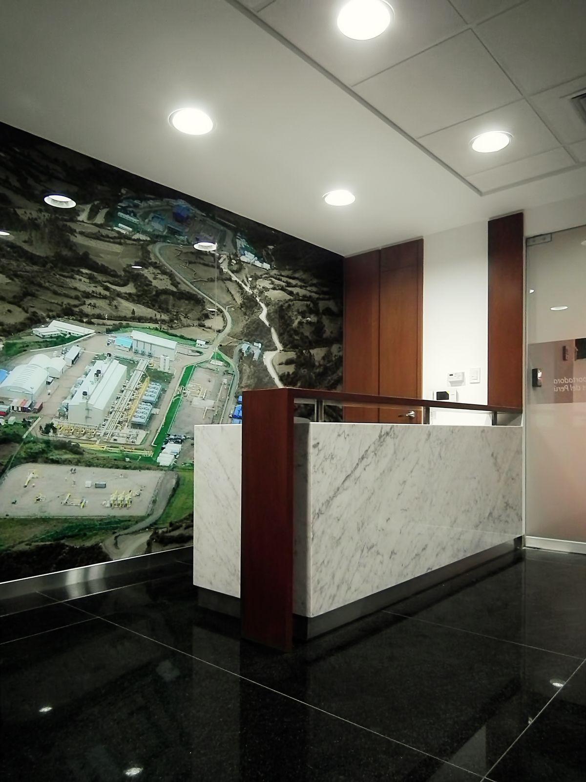 Diseo de recepcin oficinas COGA  Diseo SXL