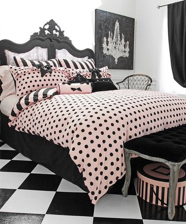 Look What I Found On Zulily Pink Black Left Bank Comforter Set